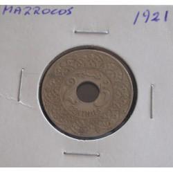 Marrocos - 25 Centimes - 1921