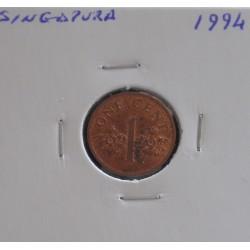 Singapura - 1 Cent - 1994