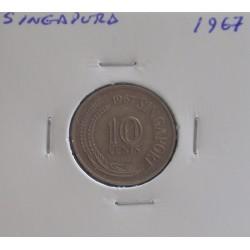 Singapura - 10 Cents - 1967