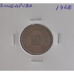 Singapura - 10 Cents - 1968