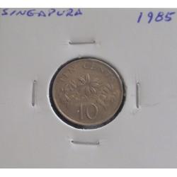 Singapura - 10 Cents - 1985