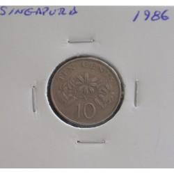 Singapura - 10 Cents - 1986