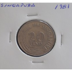 Singapura - 20 Cents - 1981
