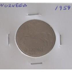 Noruega - 1 Krone - 1959