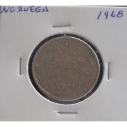 Noruega - 1 Krone - 1968