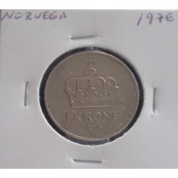 Noruega - 1 Krone - 1976