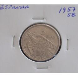 Espanha - 5 Pesetas - 1957-58