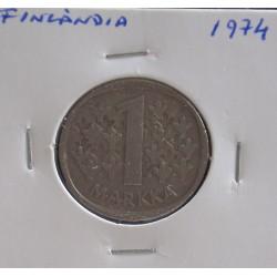 Finlândia - 1 Markka - 1974