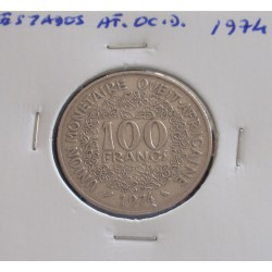 Estados de África Ocidental - 100 Francs - 1974