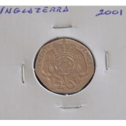 Inglaterra - 20 Pence - 2001