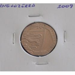 Inglaterra - 20 Pence - 2009