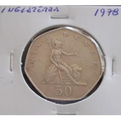 Inglaterra - 50 New Pence - 1978
