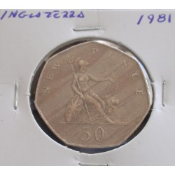 Inglaterra - 50 New Pence - 1981