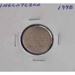 Inglaterra - 5 Pence - 1998