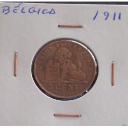 Bélgica ( Des Belges ) - 2 Centimes - 1911