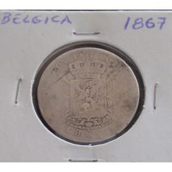 Bélgica (Des Belges ) - 2 Francs - 1867 - Prata