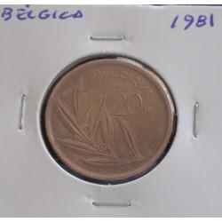 Bélgica ( Belgique ) - 20 Francs - 1981