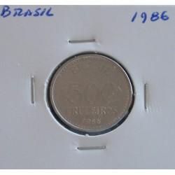 Brasil - 500 Cruzeiros - 1986