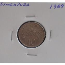 Singapura - 10 Cents - 1989