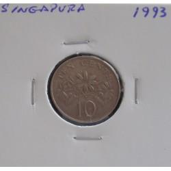 Singapura - 10 Cents - 1993