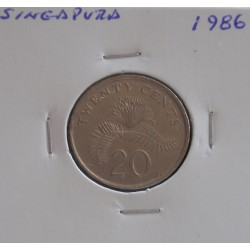 Singapura - 20 Cents - 1986