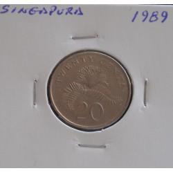 Singapura - 20 Cents - 1989