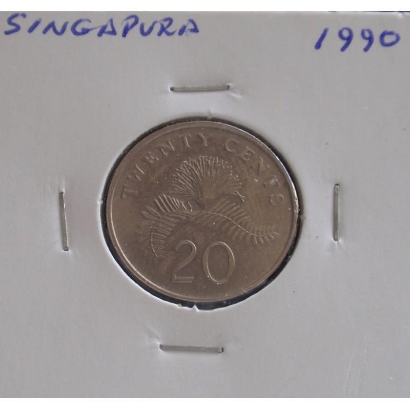 Singapura - 20 Cents - 1990