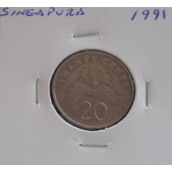 Singapura - 20 Cents - 1991