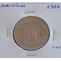 Maurícias - 1 Rupee - 1987 - Unc