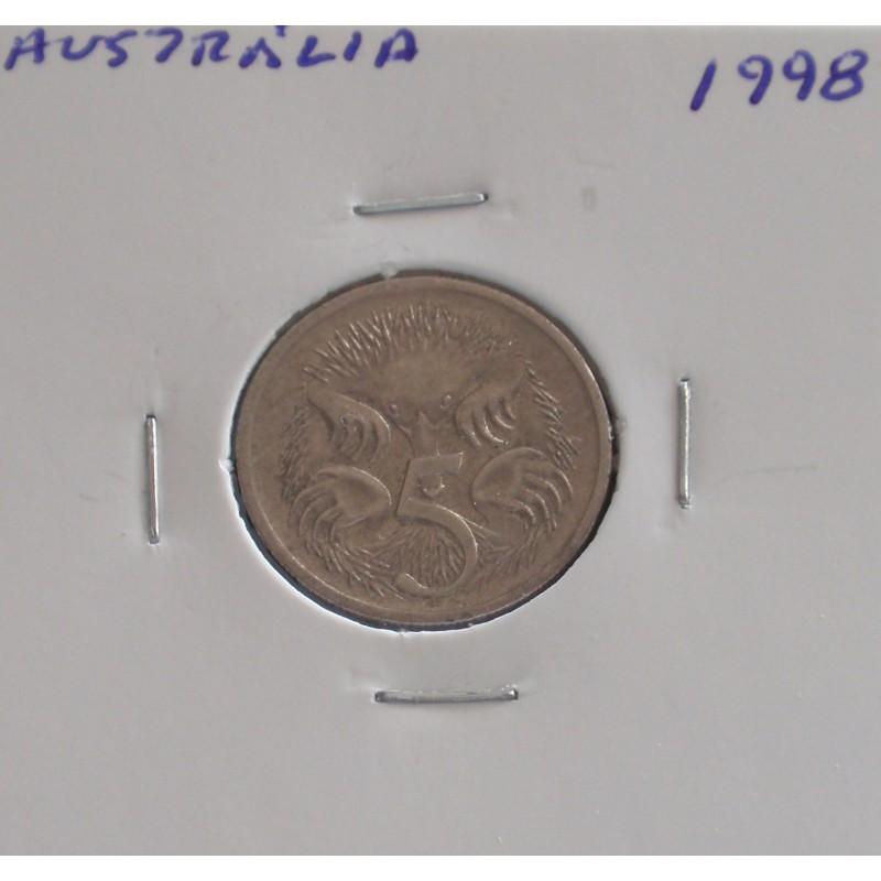 Austrália - 5 Cents - 1998