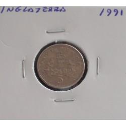 Inglaterra - 5 Pence - 1991