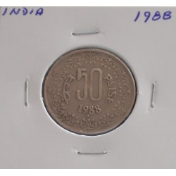 India - 50 Paise - 1988