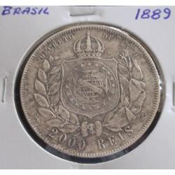 Brasil - 2000 Réis - 1889 - Prata