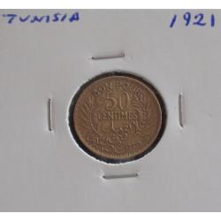 Tunisia - 50 Centimes - 1921