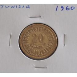 Tunisia - 20 Milliemes - 1960