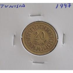 Tunisia - 20 Milliemes - 1997