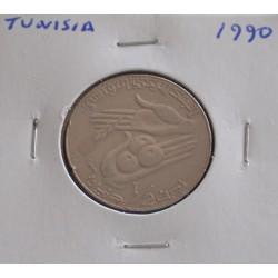 Tunisia - 1/2 Dinar - 1990