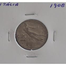Itália - 20 Centesimi - 1908