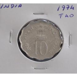 India - 10 Paisa - 1974 -  FAO