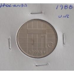 Holanda - 1 Gulden - 1988 - Unc