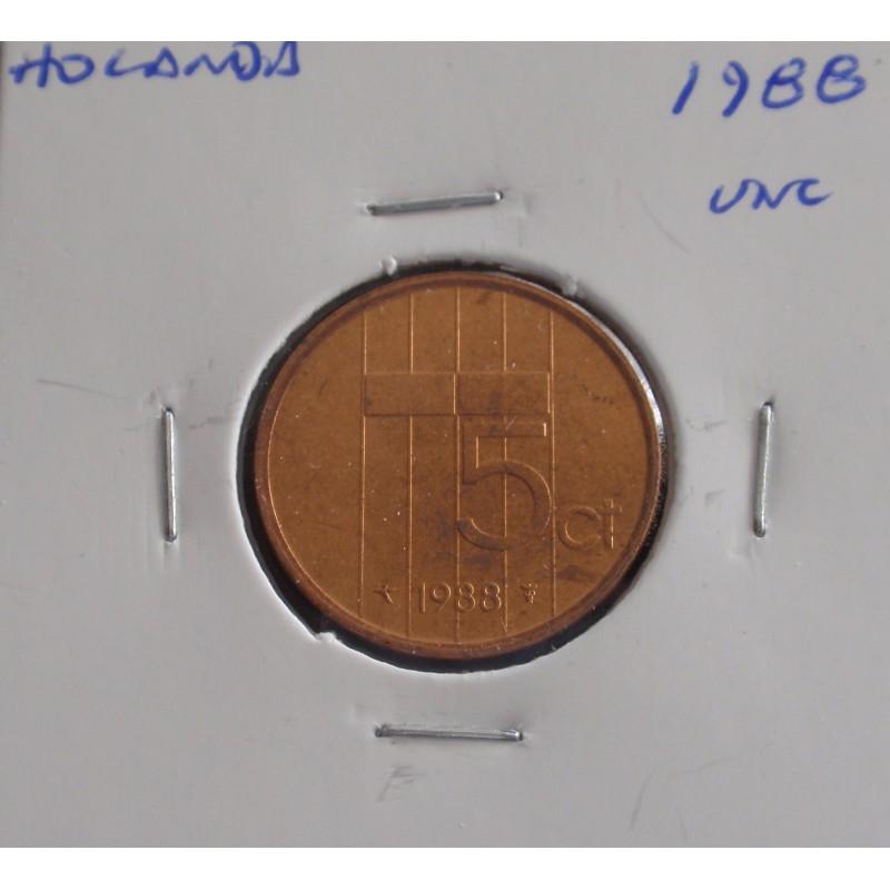 Holanda - 5 Cents - 1988 - Unc