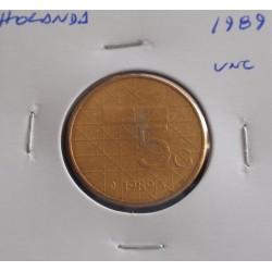 Holanda - 5 Gulden - 1989 - Unc