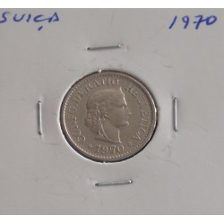Suiça - 10 Rapen - 1970