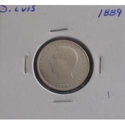 D. Luis - 100 Réis - 1889 - Prata