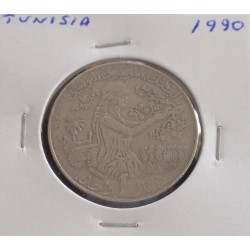 Tunisia - 1 Dinar - 1990