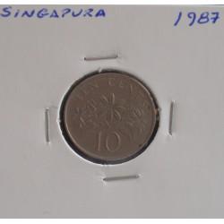 Singapura - 10 Cents - 1987