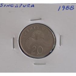 Singapura - 20 Cents - 1988