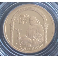 Portugal - 500 Escudos - 1995 - Santo António - Proof - Ouro