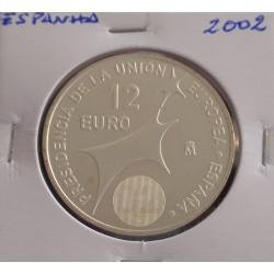 Espanha - 12 Euro - 2002 - Prata