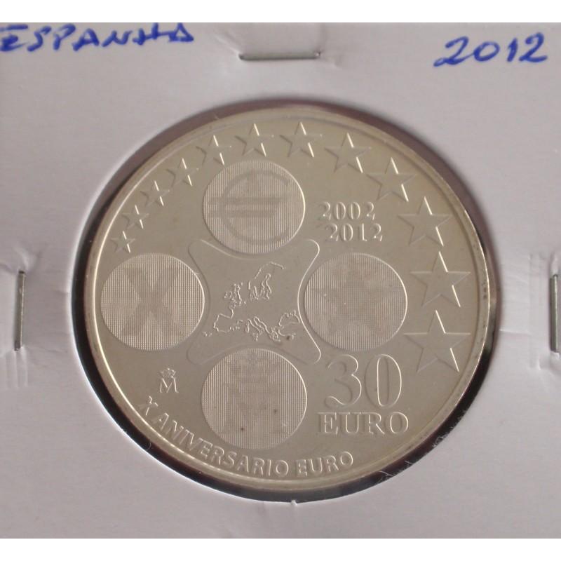 Espanha - 30 Euro - 2012 - Prata